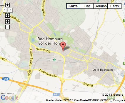 Kartenausschnitt Bad Homburg