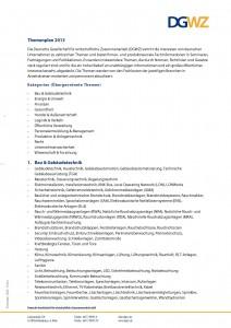 Themenplan 2013