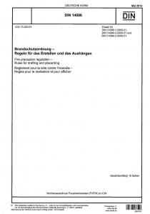 DIN 14096:2014-05 Brandschutzordnung - Regeln für das Erstellen und das Aushängen