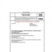 DIN EN IEC 62485-2 Sicherheitsanforderungen an Sekundär-Batterien und Batterieanlagen Teil 2: Stationäre Batterien