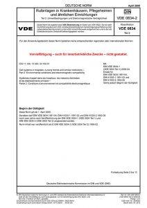 DIN VDE 0834-2:2000-04 Rufanlagen in Krankenhäusern, Pflegeheimen und ähnlichen Einrichtungen – Teil 2: Umweltbedingungen und Elektromagnetische Verträglichkeit (Norm)