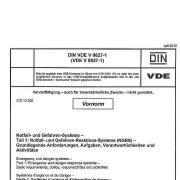 Titelblatt Vornorm: DIN VDE V 0827-1:2016-07 Notfall- und Gefahren-Systeme (NGRS) - Teil 1: Notfall- und Gefahren-Reaktions-Systeme (NGRS) - Grundlegende Anforderungen, Aufgaben, Verantwortlichkeiten und Aktvitäten