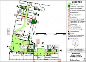 Feuerwehrplan nach DIN 14095