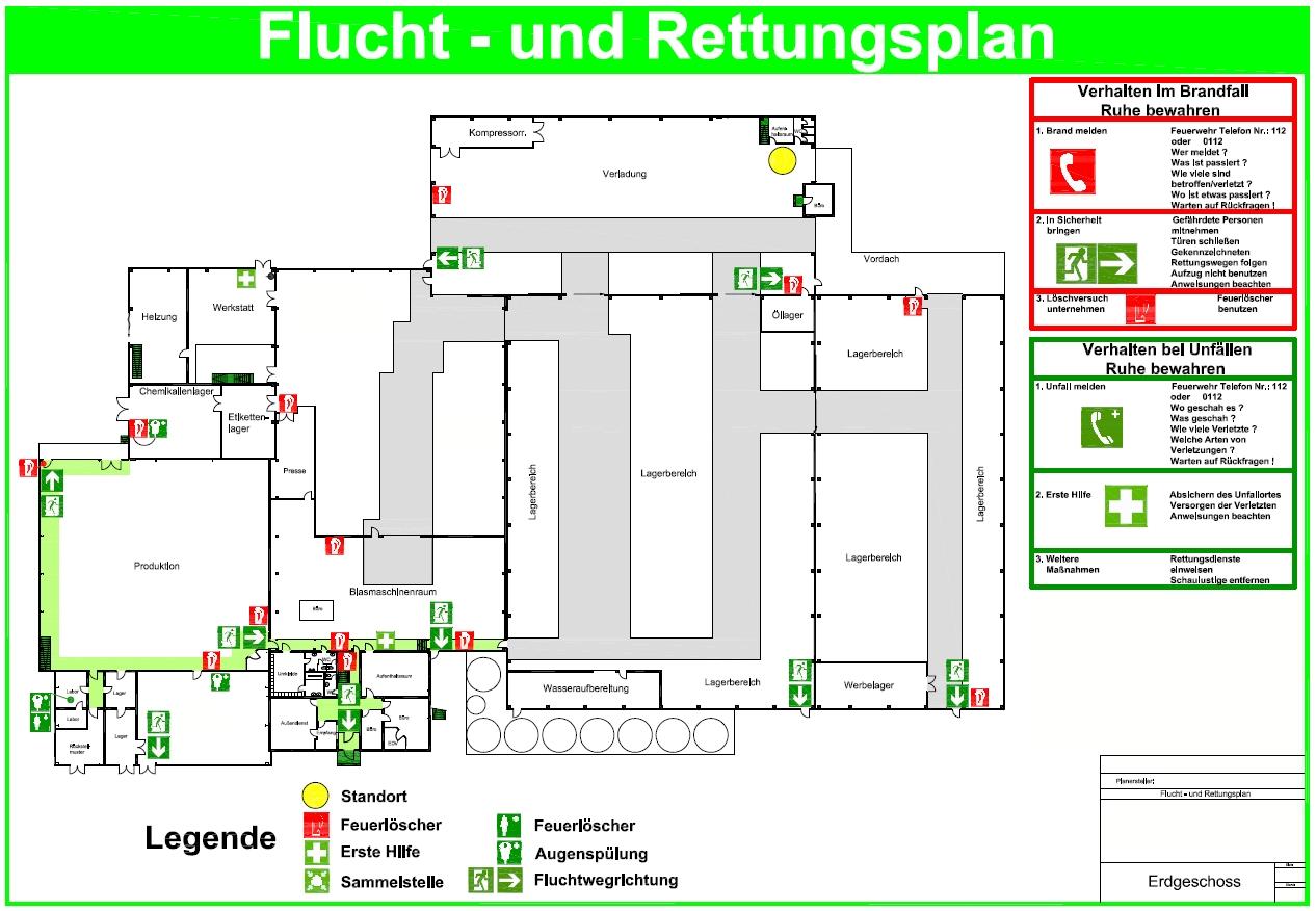 flucht und rettungsplan deutsche gesellschaft f r. Black Bedroom Furniture Sets. Home Design Ideas
