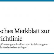 Überarbeitete Richtlinie für die Bundesförderung von Corona-RLT-Anlagen