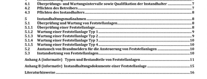 Inhalt E DIN 14677-1:2018-03 Instandhaltung Feststellanlagen - Teil 1: Instandhaltungsmaßnahmen