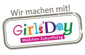 Logo, Siegel: Girls' Day - wir machen mit!