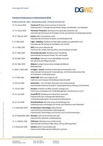 Termine Fachmessen in Deutschland 2020, 2021, 2022 - Elektrotechnik, Bau, Gebäudetechnik, Sicherheitstechnik