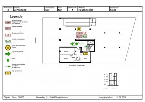 Seminar Feuerwehrlaufkarten - Muster-Feuerwehrlaufkarte nach DIN 14675