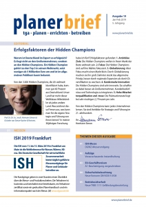 Titel Planerbrief 19 - Januar-Februar 2019