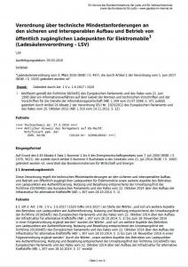 Ladesäulenverordnung (LSV)