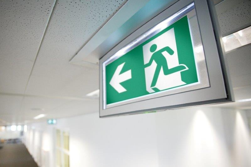 Notbeleuchtung, Sicherheitsbeleuchtung, Sicherheitsleitsysteme, Fluchtweg, Rettungsweg, Symbol